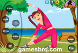 لعبة تلبيس فتاة تمارين الجيم