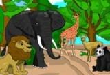 لعبة تلوين حيوانات الغابة 2014