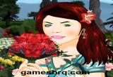 لعبة مكياج بائعة الزهور