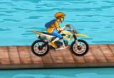 لعبة سباق الدراجة الهوائية على الجسر