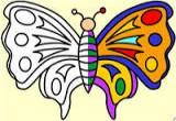العاب تلوين الفراشة الكبيرة