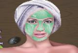 لعبة قناع اخضر للوجه تنظيف البشرة وعمل مكياج متكامل
