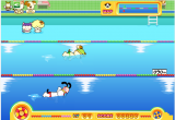 لعبة سباق السباحة