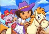 لعبة مغامرات دورا والحصان في الغابة