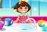 لعبة تنظيف أسنان دورا