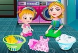 لعبة مساعدة بيبي هازل الام في الغسيل