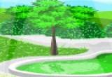لعبة ترتيب ديكور الحديقة الخضراء