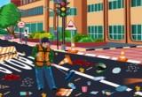 لعبة تنظيف عامل النظافة الشارع