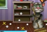 لعبة القط توم ينظف الغرفة