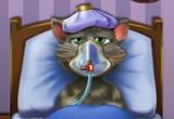 لعبة علاج القط المسكين