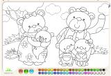 لعبة تلوين عائلة الدب