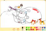 لعبة تلوين رسومات بابا نويل
