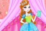 لعبة تلبيس الطفلة الفساتين الزرقاء