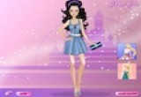 لعبة تلبيس الفتاة الرشيقة الفساتين الملونة